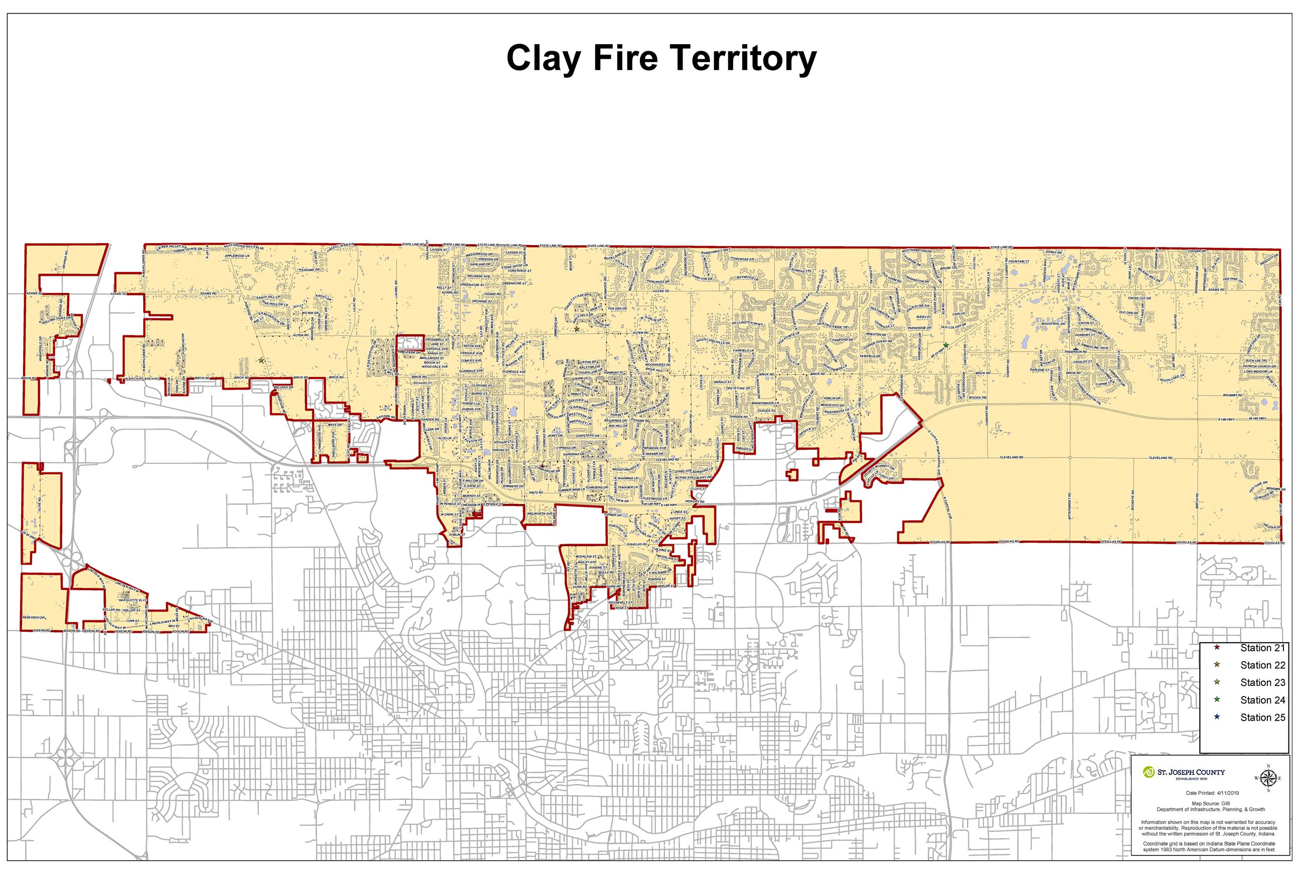 Clay Fire Map